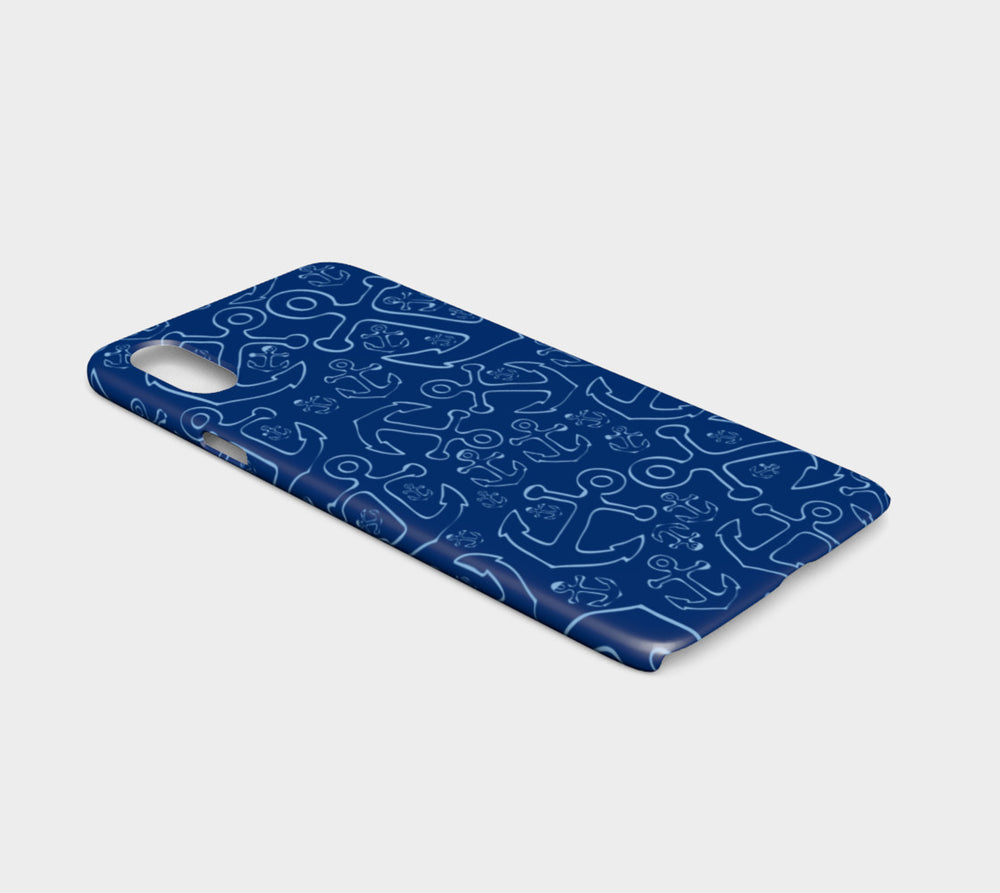 Anchor Dream Cell Phone Case iPhone X / XS - Blue on Navy - SummerTies