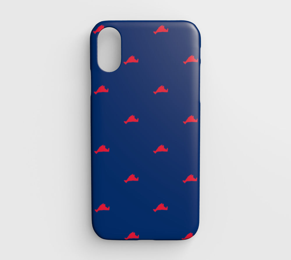 Martha's Vineyard Cell Phone Case iPhone XR - Red on Blue