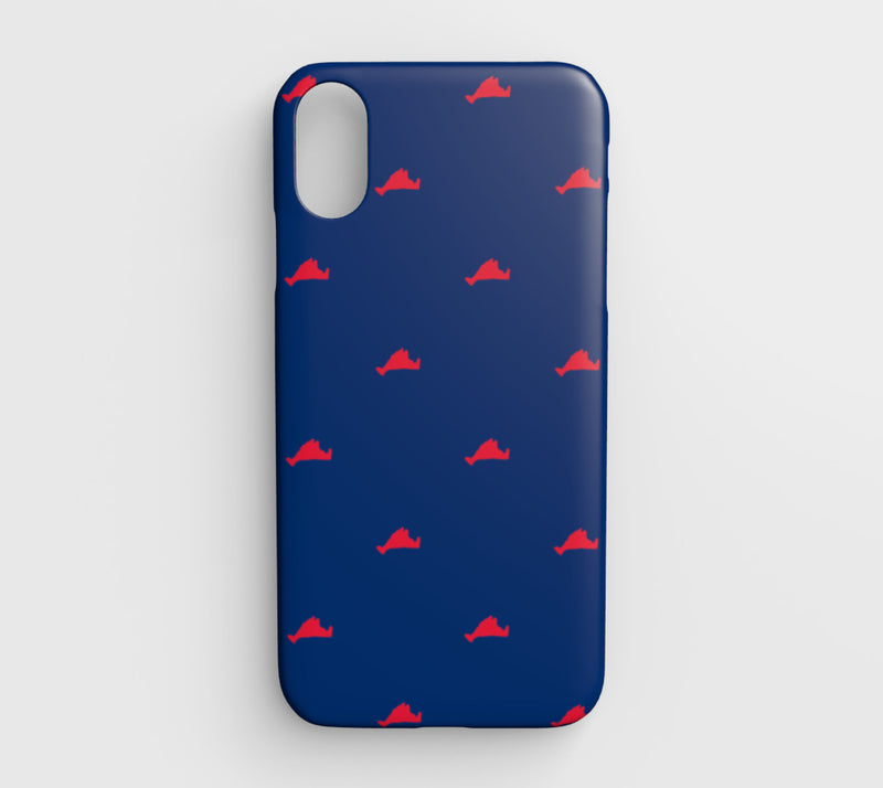 Martha's Vineyard Cell Phone Case iPhone XR - Red on Blue - SummerTies