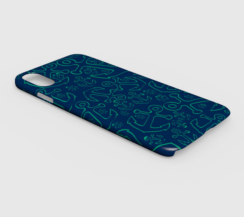Anchor Dream Cell Phone Case iPhone XS Max - Green on Navy - SummerTies