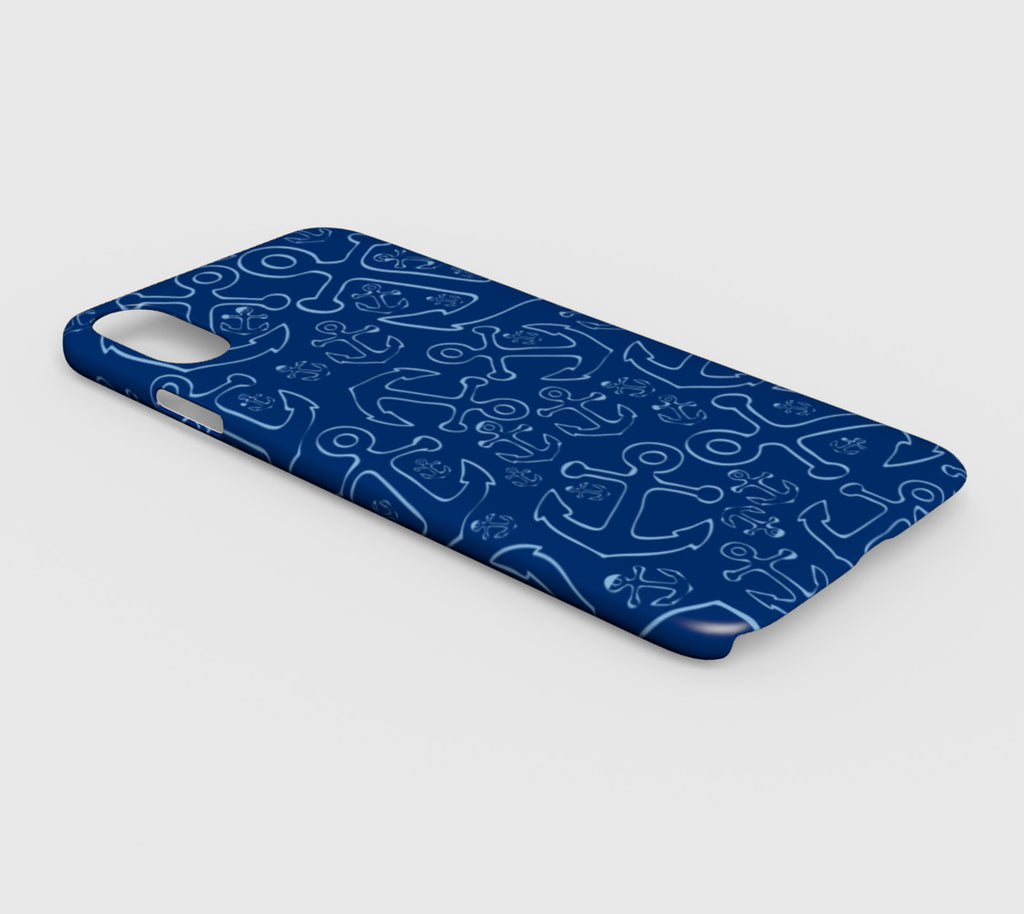 Anchor Dream Cell Phone Case iPhone XS Max - Blue on Navy - SummerTies