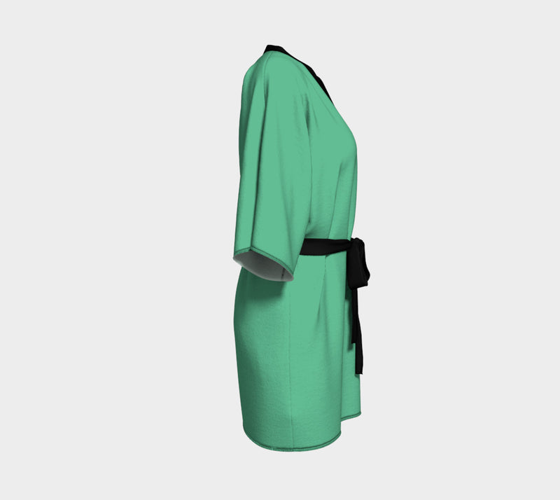 Solid Kimono Robe - Light Green - SummerTies