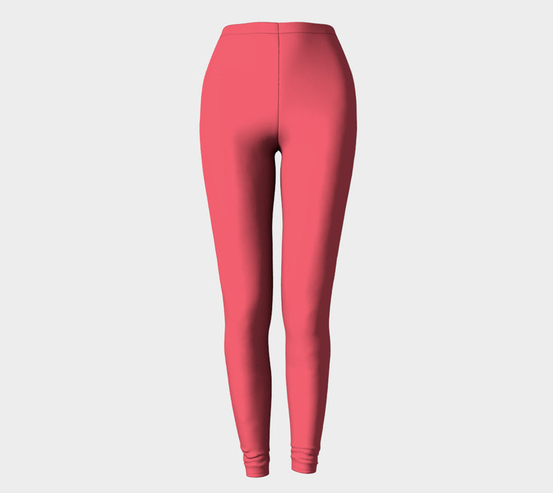Solid Adult Leggings - Coral Pink - SummerTies