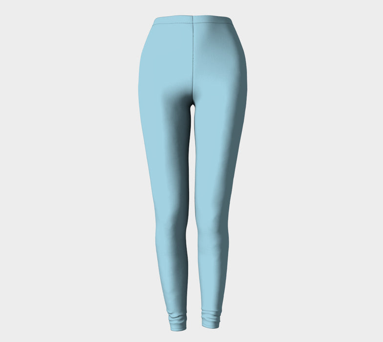 Solid Adult Leggings - Light Blue