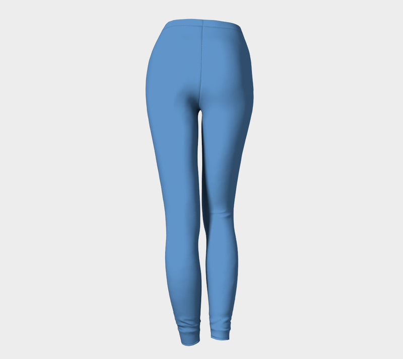 Solid Adult Leggings - Blue - SummerTies