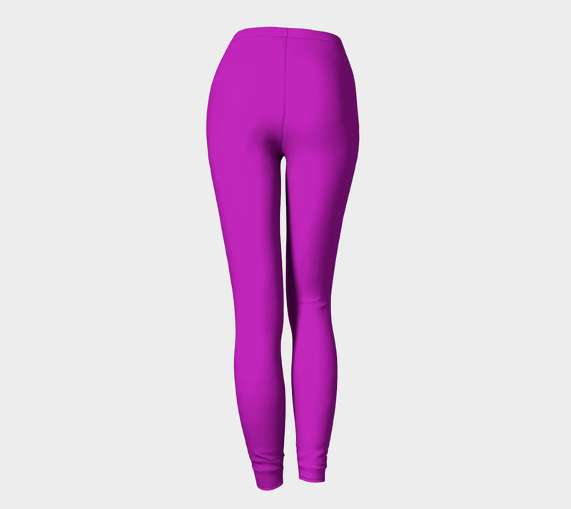 Solid Adult Leggings - Purple - SummerTies