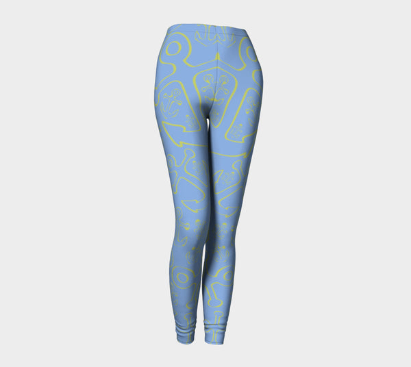 Anchor Dream Adult Leggings - Light Blue - SummerTies