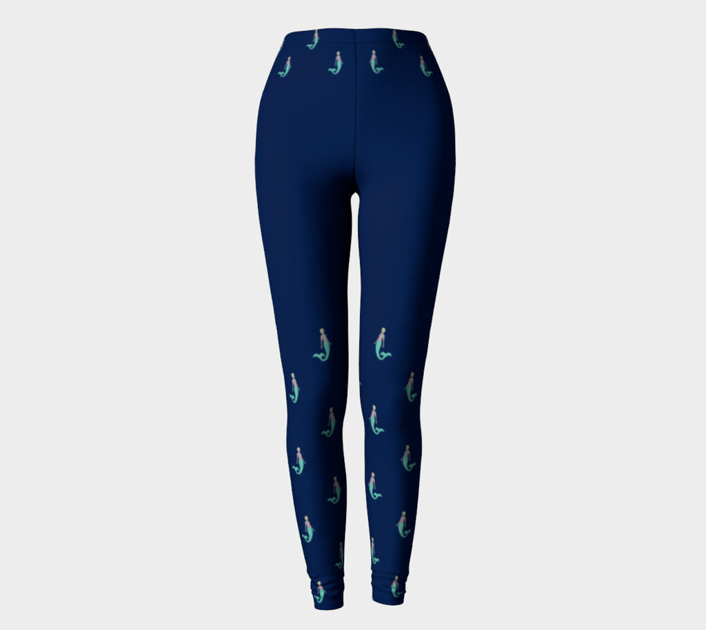 Mermaid Adult Leggings - on Navy - SummerTies