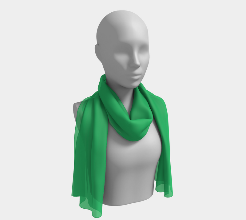 Solid Long Scarf - Green - SummerTies