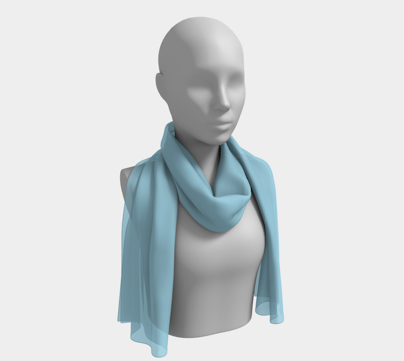 Solid Long Scarf - Light Blue - SummerTies