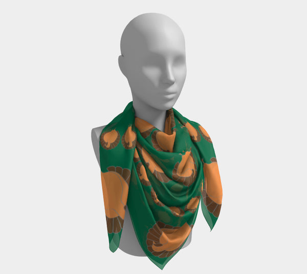Turkey Square Scarf - Green - SummerTies