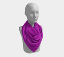 Solid Square Scarf - Purple - SummerTies