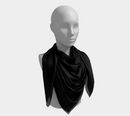 Solid Square Scarf - Black - SummerTies