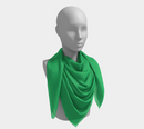 Solid Square Scarf - Green - SummerTies