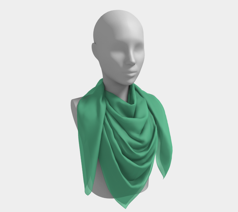 Solid Square Scarf - Light Green - SummerTies