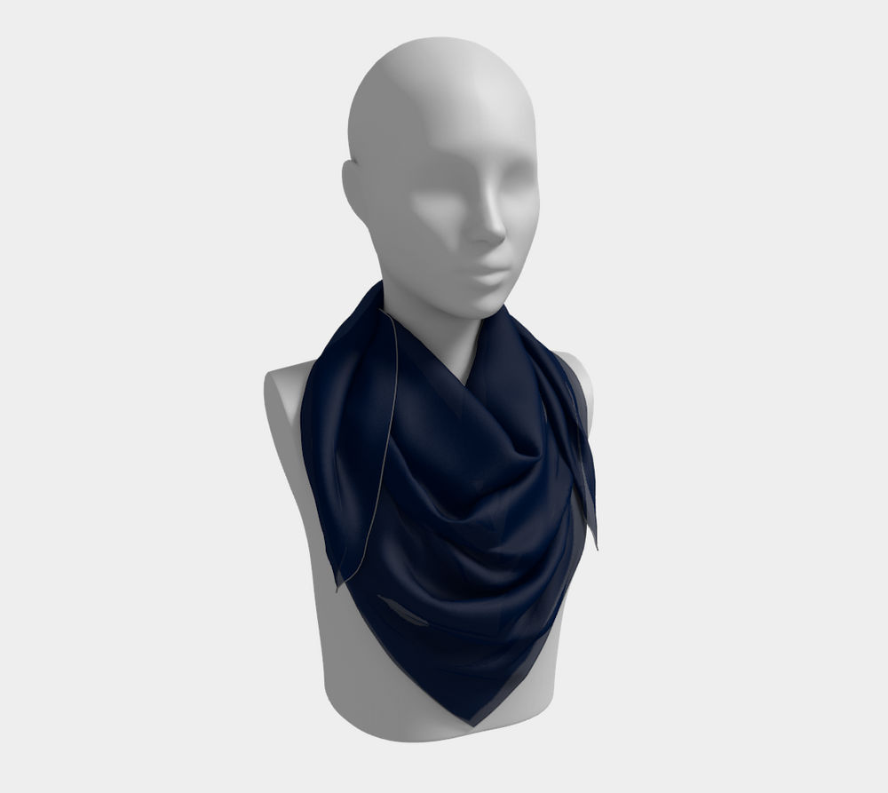 Solid Square Scarf - Navy