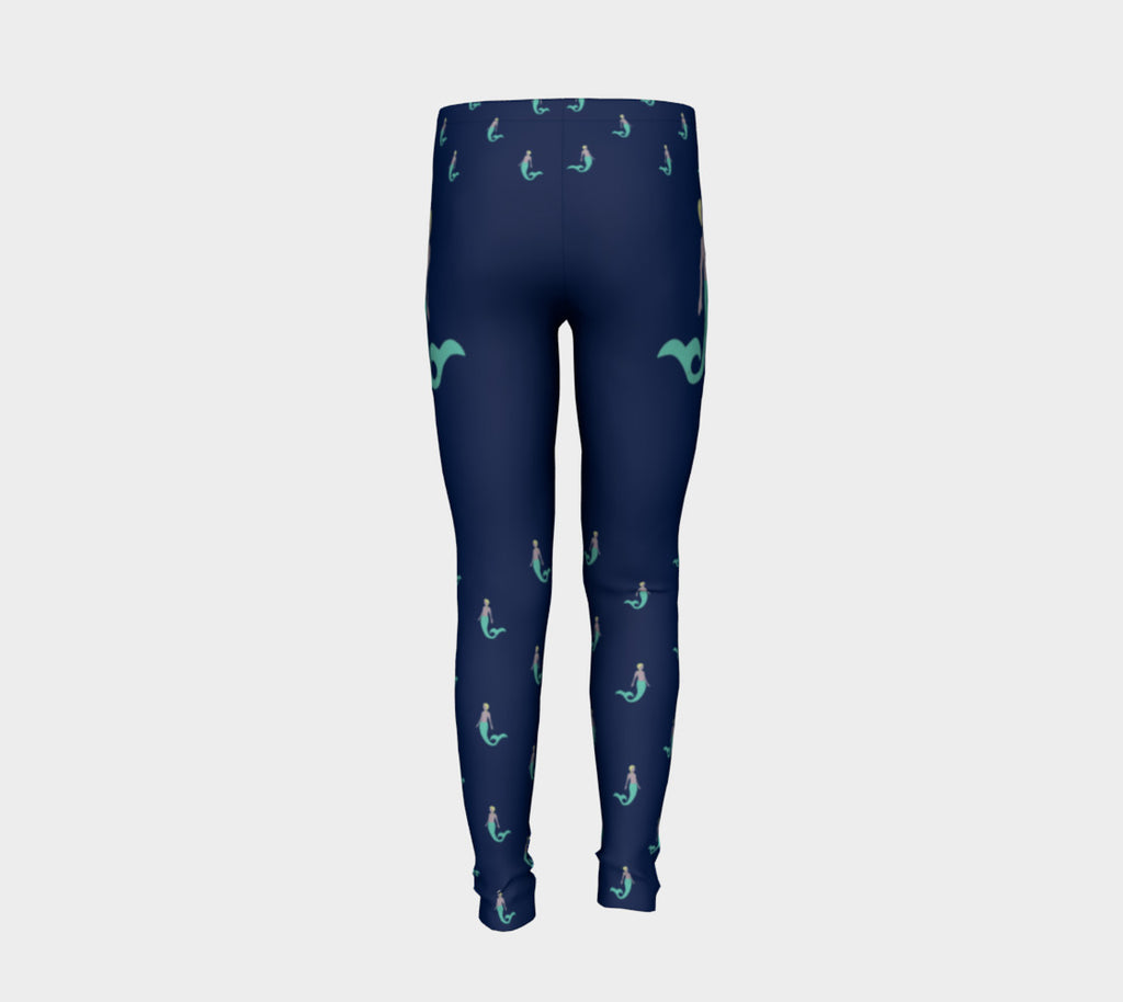 Mermaid Youth Leggings - Navy