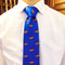 Alligator Necktie - Blue, Woven Silk - SummerTies