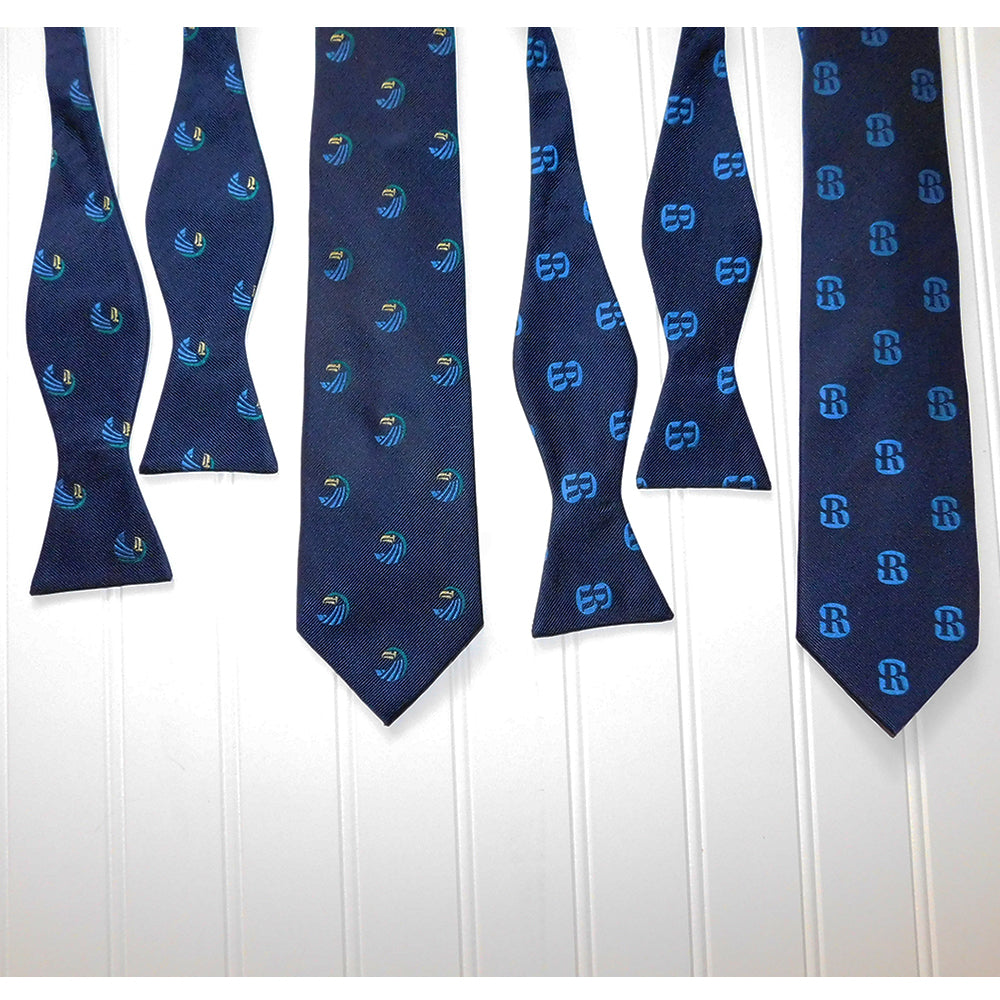 Salve Regina University Necktie - SR Navy, Woven Silk - SummerTies
