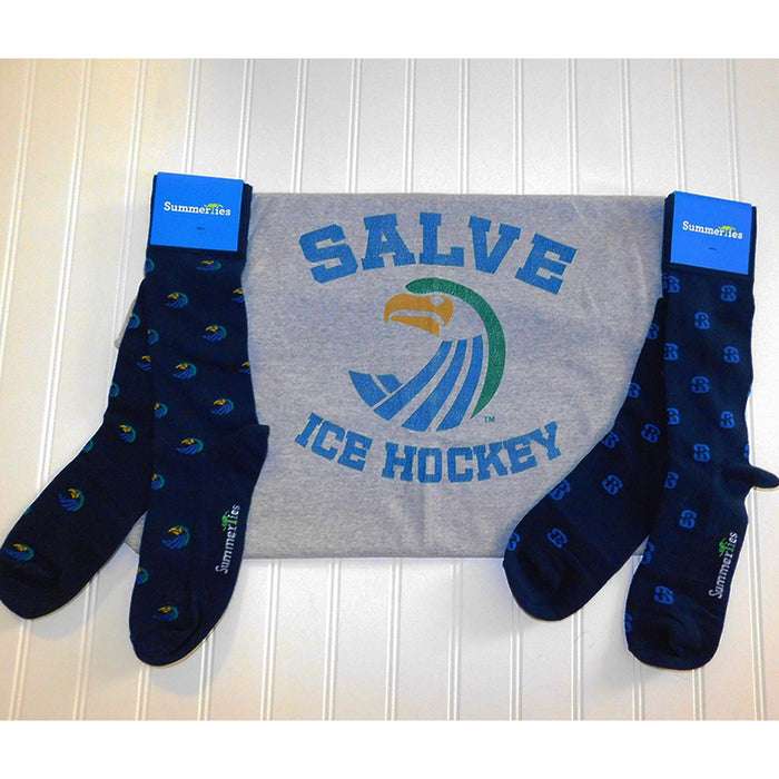 Salve Regina University Socks - Seahawk Logo - Men's Mid Calf - SummerTies