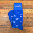 Palm Tree Socks - Men's Mid Calf - Blue - SummerTies