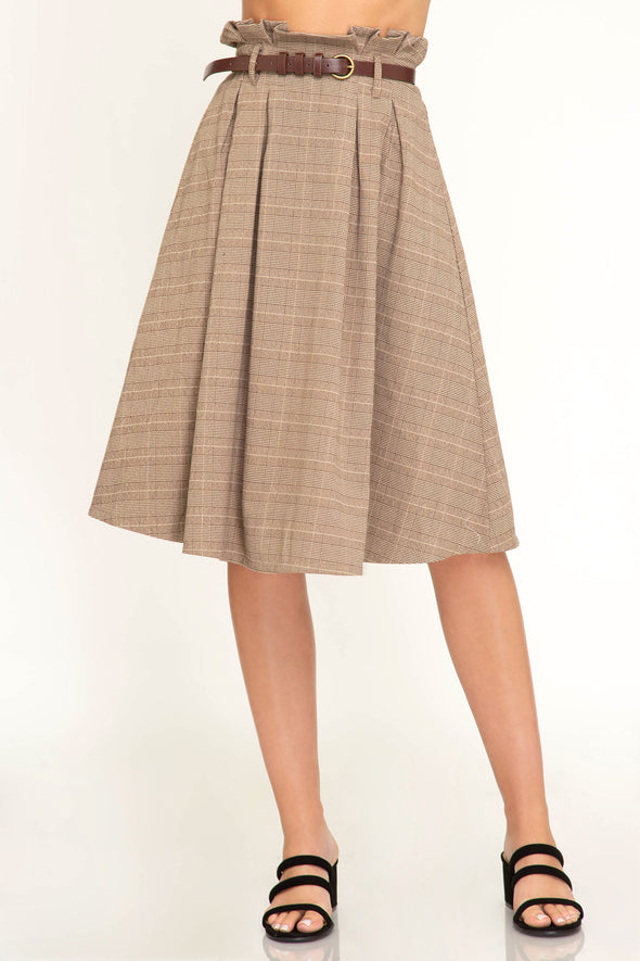Annie Plaid Midi Skirt