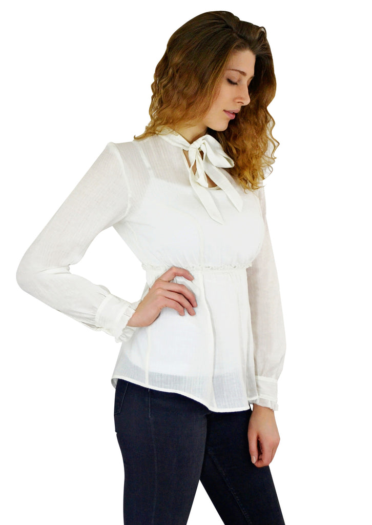 Flirty Bow Collar Shirt - Exclusively Kristen