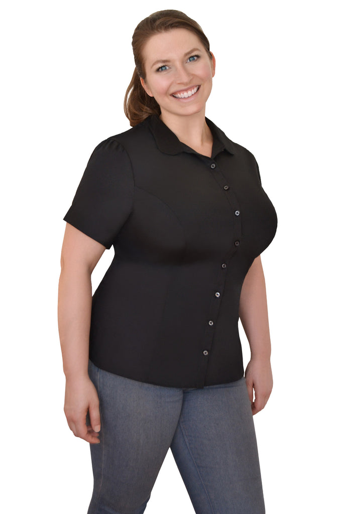 The Classic Short Sleeved Shirt (Black) - Exclusively Kristen