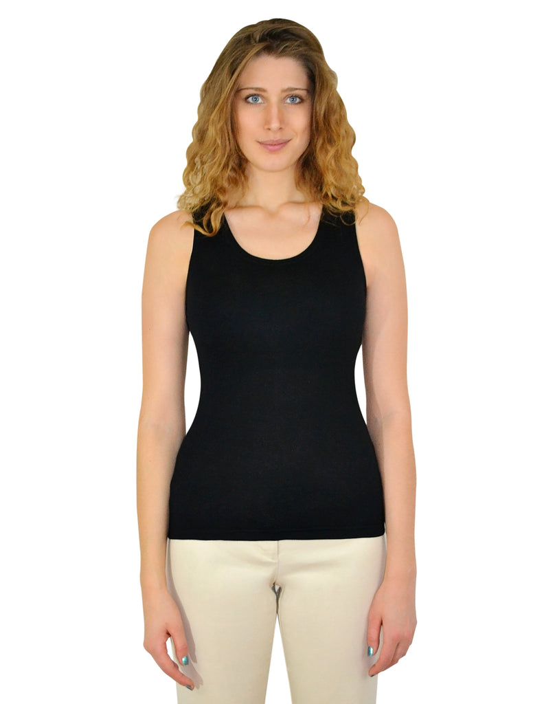 Tank Top with Shelf Bra (Black) - Exclusively Kristen