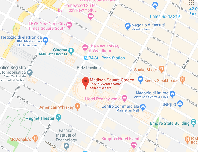 madison square garden google maps
