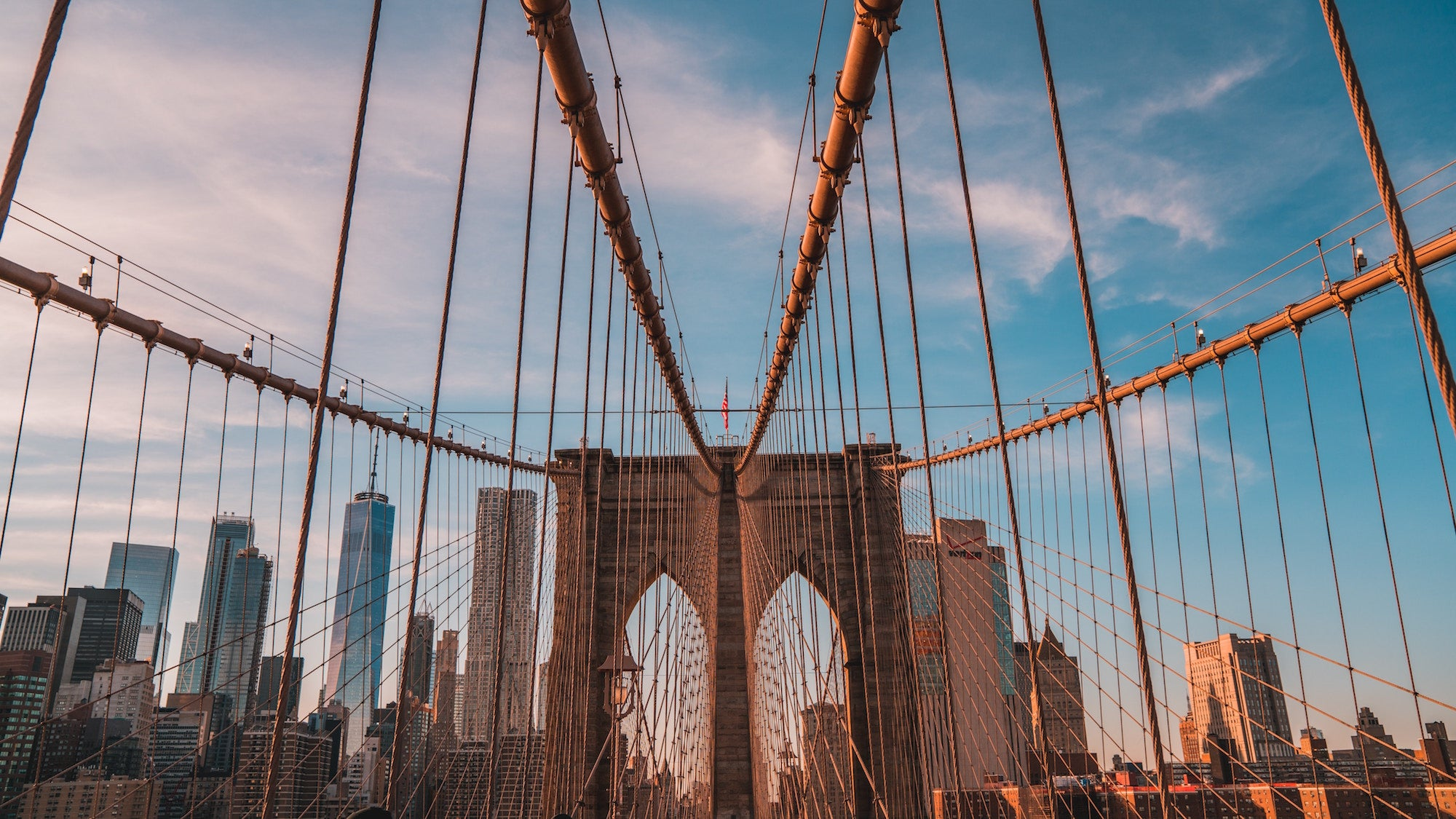 Brooklyn Bridge al tramonto