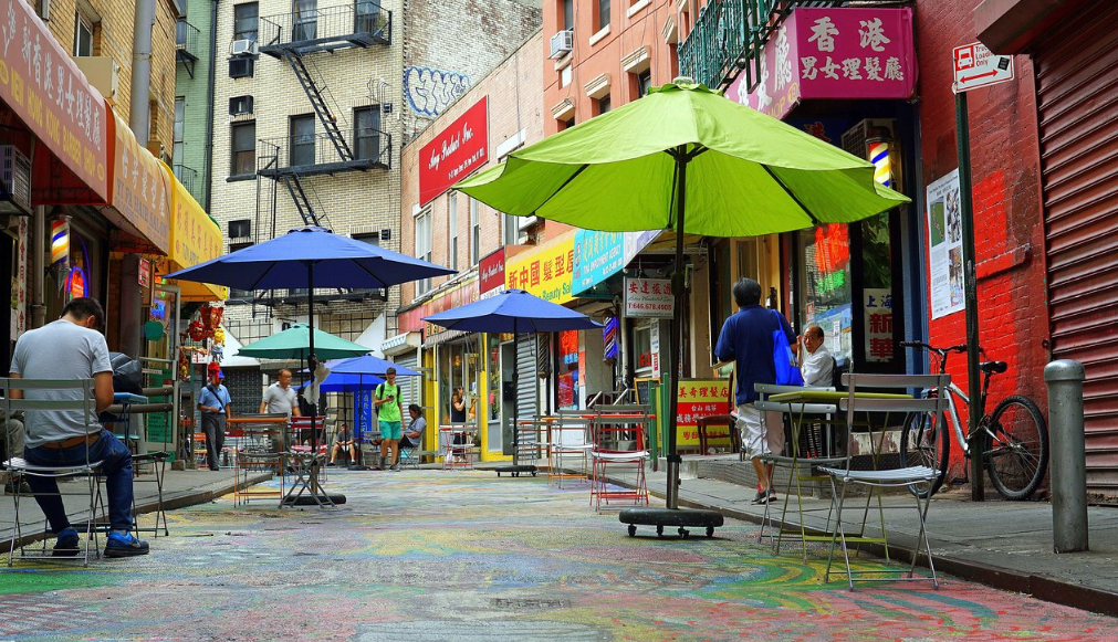 strade colorate a chinatown di manhattan