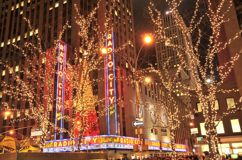 luminarie di natale a new york