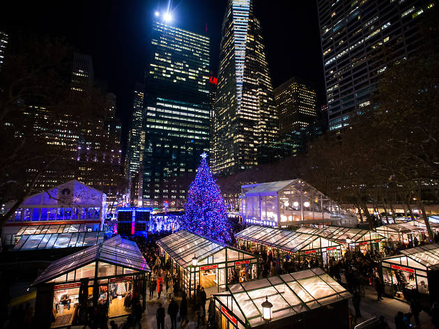 holiday shops al winter village a bryant park