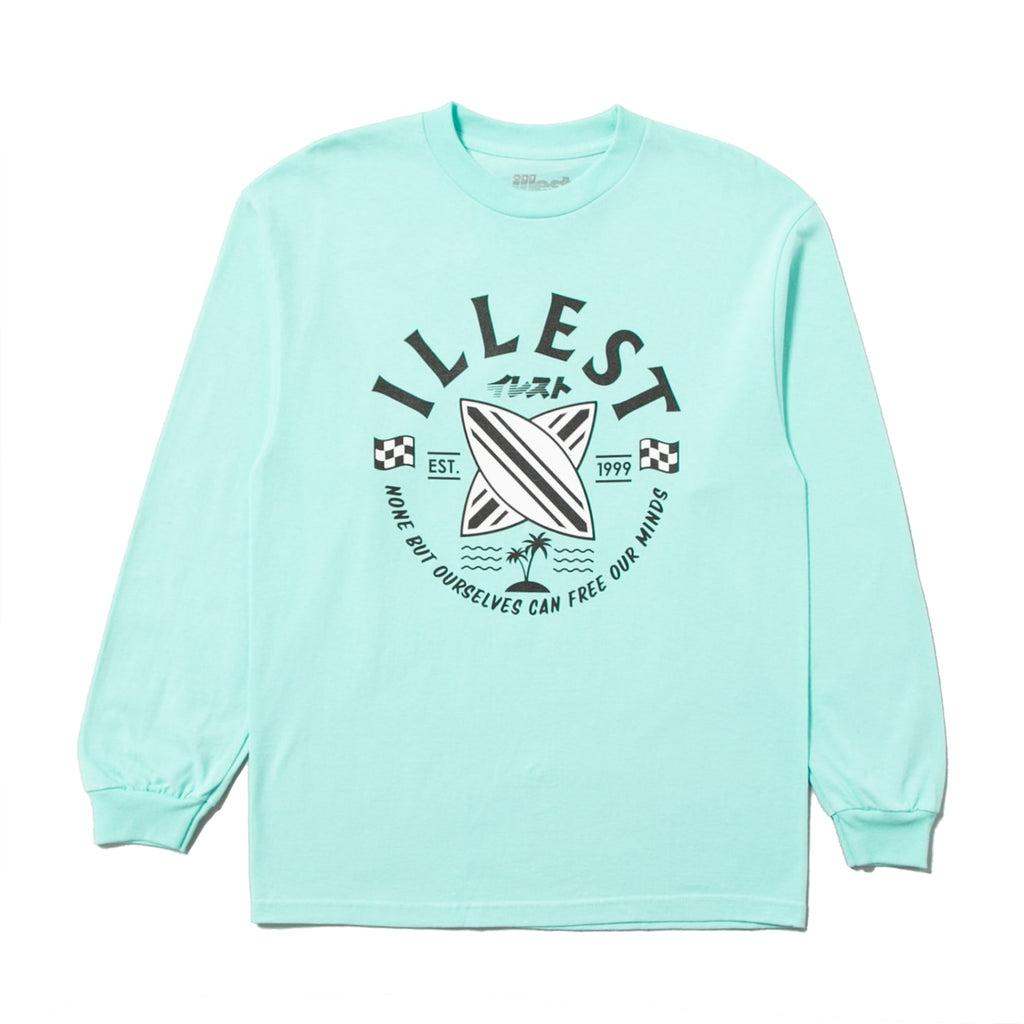 CROSS BOARD LS TEE - CELADON