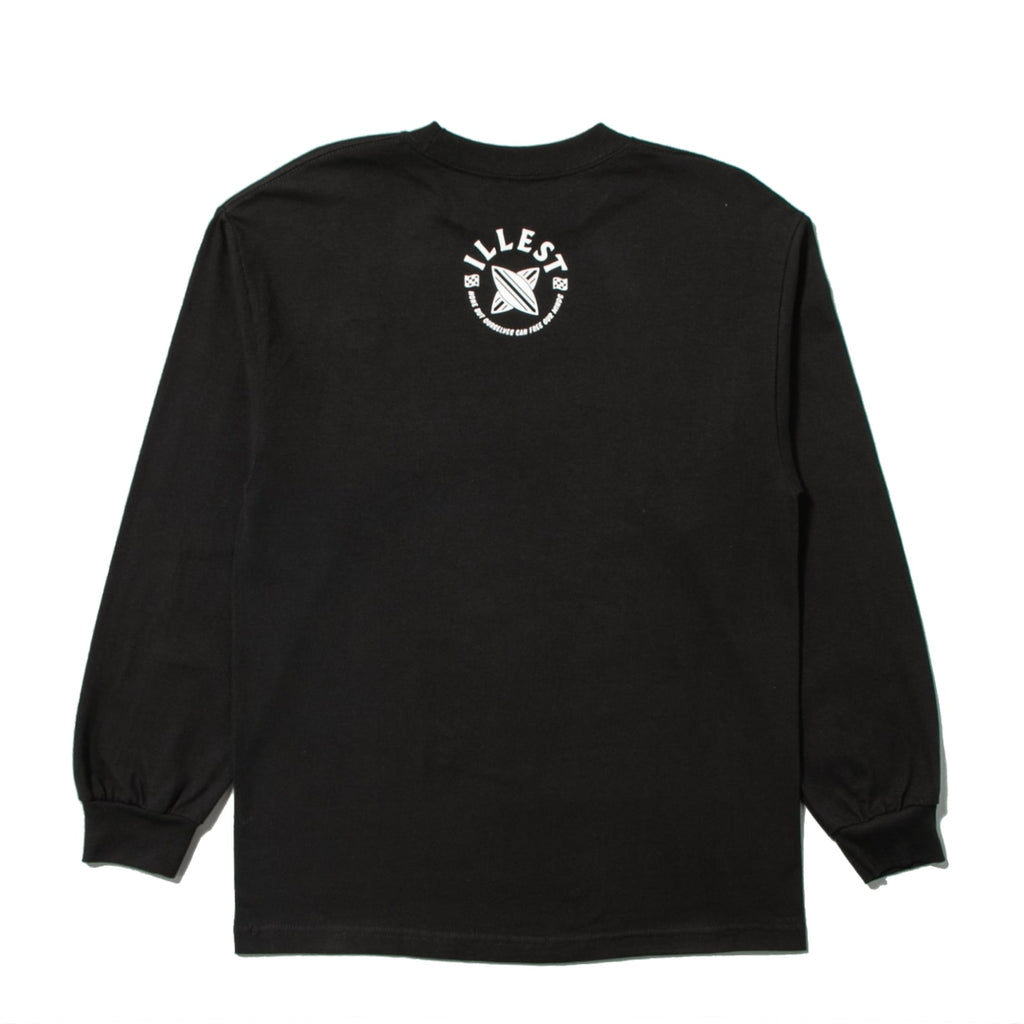 CROSS BOARD LS TEE - BLACK