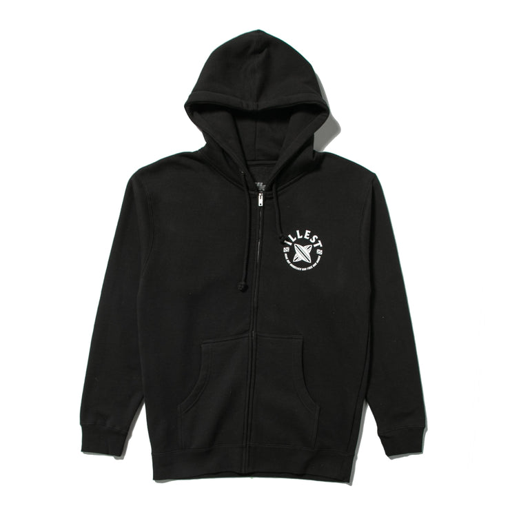 CROSSBOARD ZIPPED HOODY