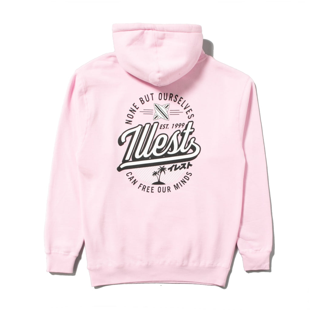 ILLEST BADGE HOODY - PINK