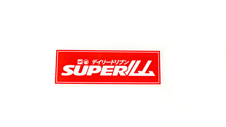 SUPERILL STICKER - RED