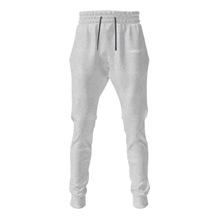 Unisex Joggers - Flight Embroidered White