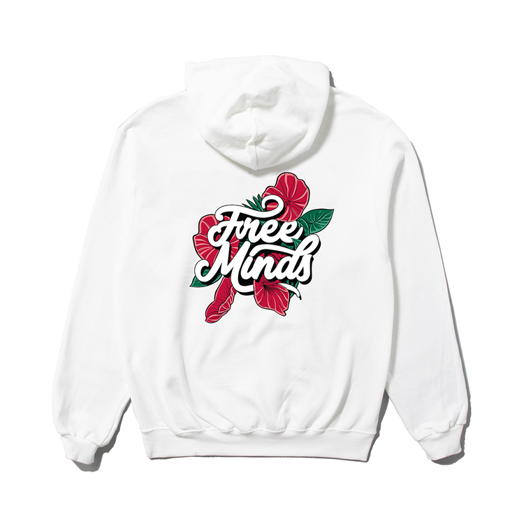 FREE MINDS HOODIE - WHITE