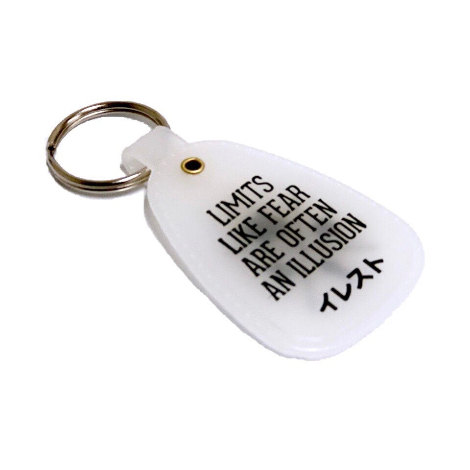ILLEST SADDLE KEY TAG - WHITE ( GLOW IN THE DARK )