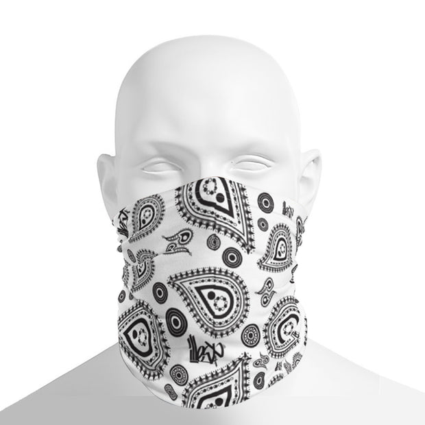 Neck Gaiter - Bandana White