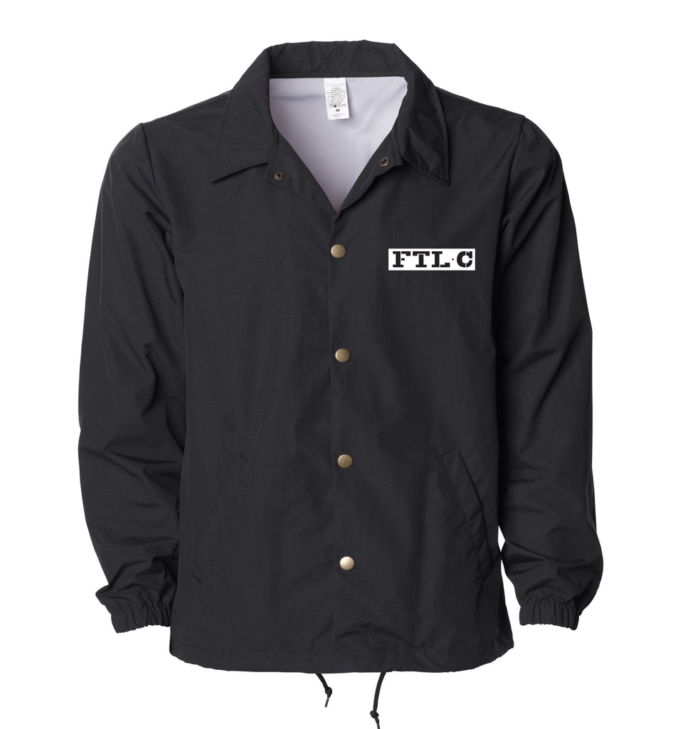 FATLACE CREW '99 COACH JACKET - BLACK