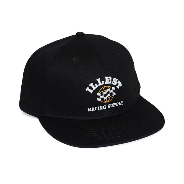 ILLEST RACING SUPPLY SNAPBACK CAP - BLACK