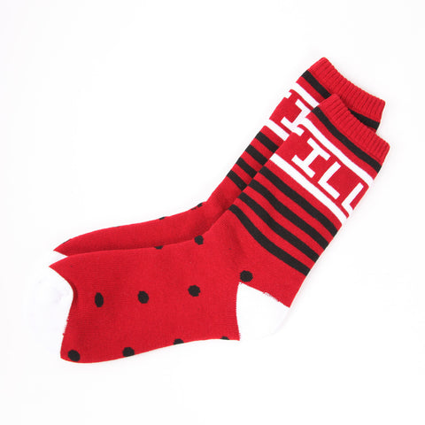 ILLEST STRIPED SOCKS - RED