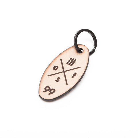 ILLEST 99 LEATHER KEYCHAIN - NATURAL