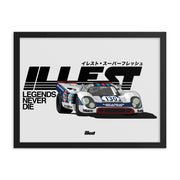 Framed poster - Le mans Legends