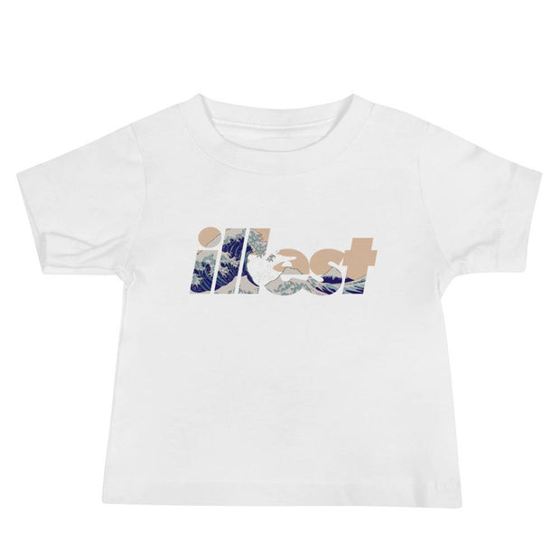 Baby Jersey Shortsleeve Tee - Bold Wave White