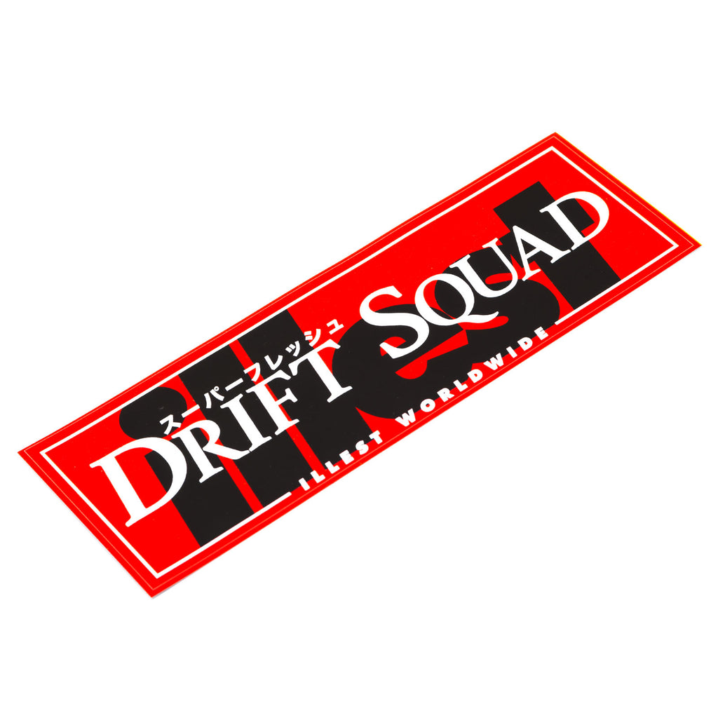 ILLEST DRIFT SQUAD BUMPER STICKER - RED